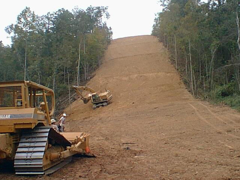 Woodland pipeline construction