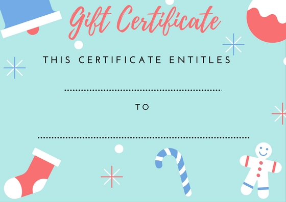 Superior Gift Certificate Christmas Holiday Printable With Printable Christmas Gift Certificate