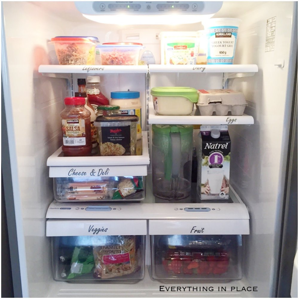 organized fridge