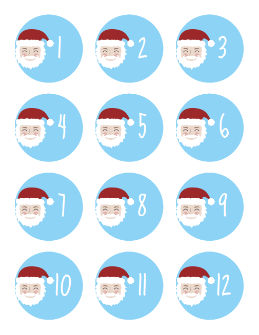 reverse advent calendar 1-12