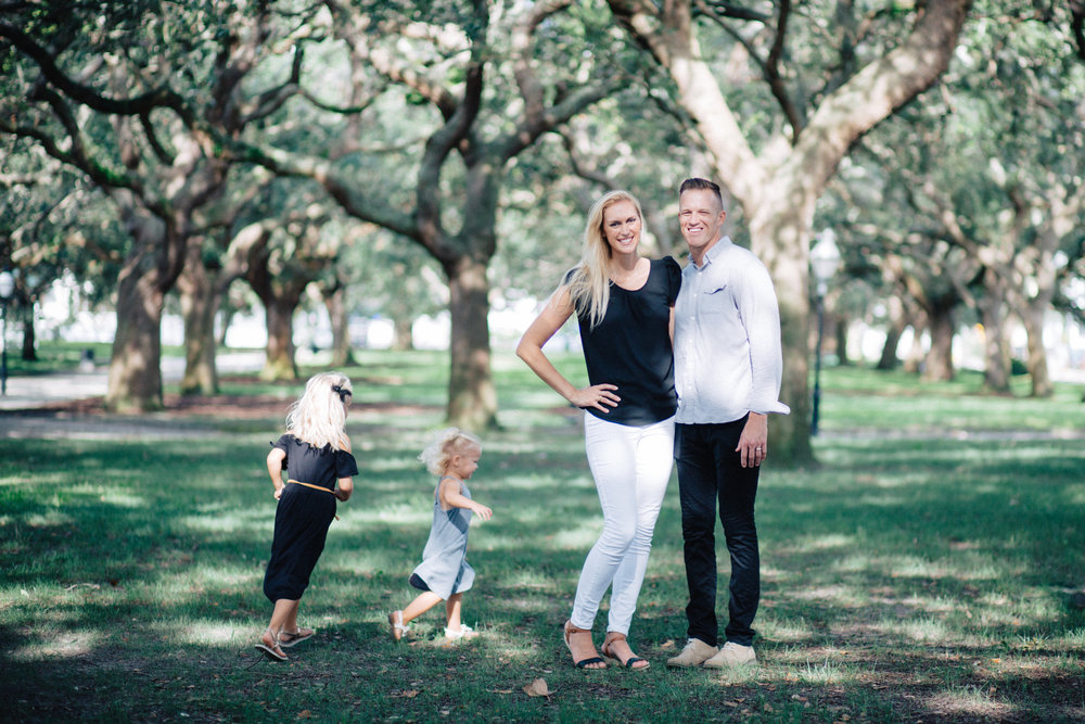 This sweet family played up the neutrals at White Point Garden in downtown Charleston.