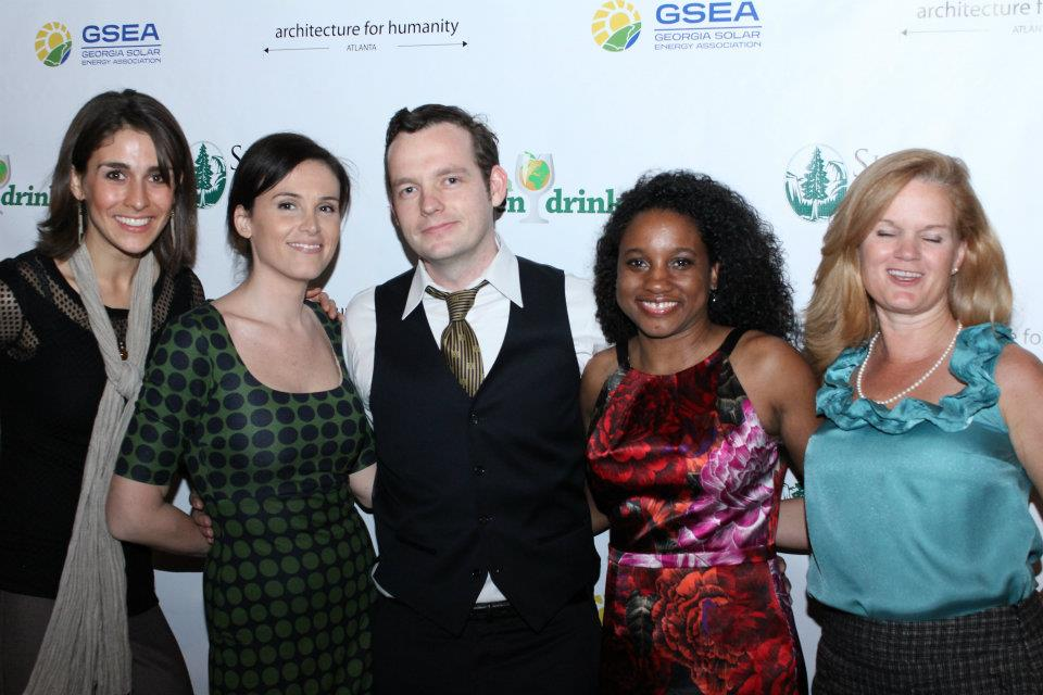 AYIG Organizers (l-r): Ruthie Taylor, City of Atlanta Division of Sustainability; Samantha Sayer for Sierra Club; Brion Fitzpatrick, Green Drinks/GA Solar; Chandra Farley, AFHA; Cecie Harrington, Rainwater Pillow