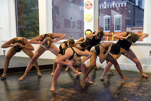 "Zoetic Dance Ensemble performing ""Tethered"" at Mammal Gallery"