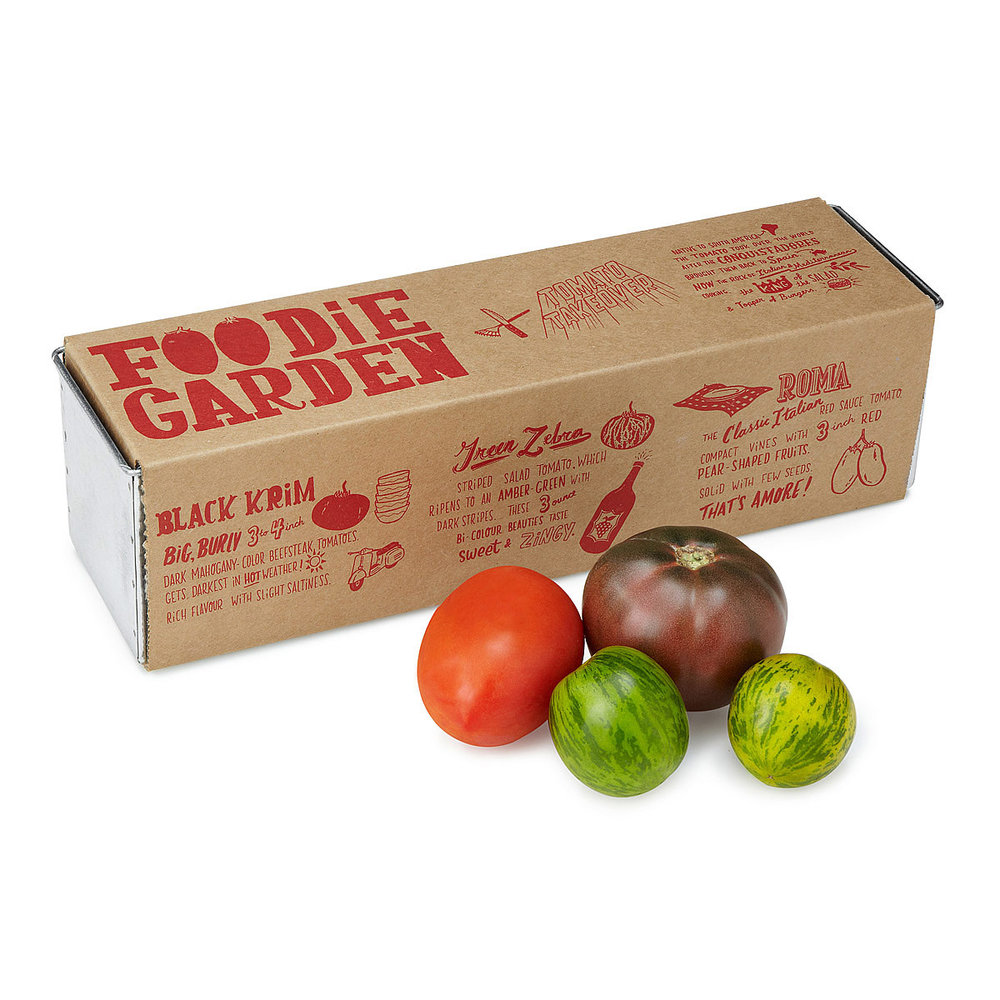 Food Garden Tomato Takeover, 3-pack (black krim, green zebra & roma)