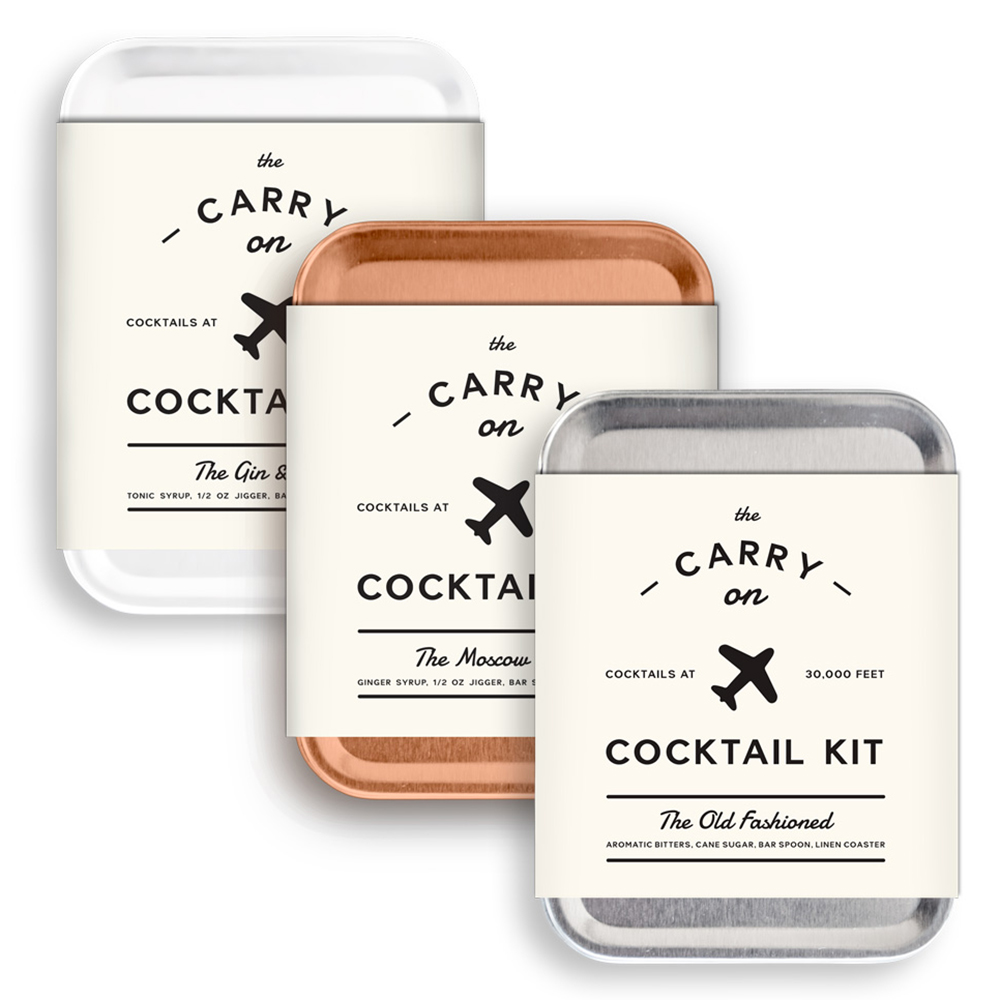 Carry-On Cocktail Kit - Gin & Tonic, Moscow Mule, Old Fashioned