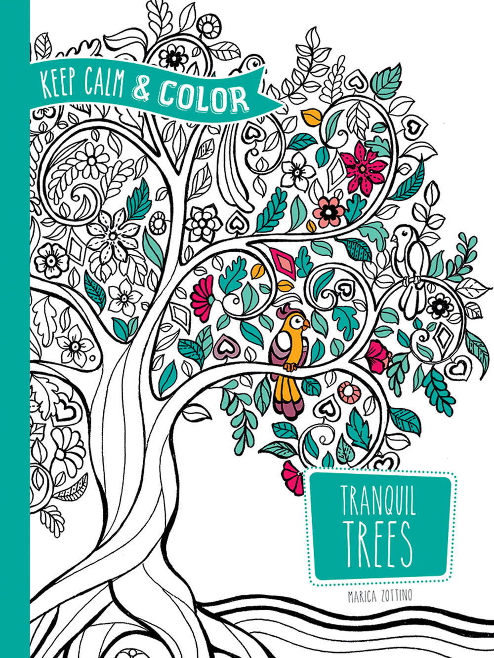 Keep Calm & Color - Tranquil Trees Adult Coloring Book