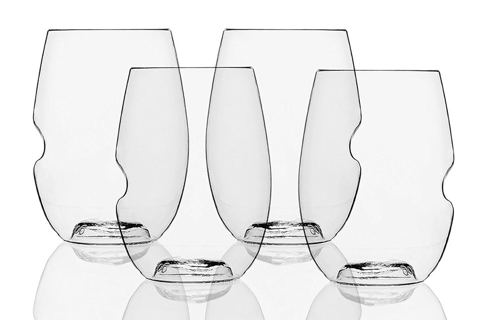 Govino Go Anywhere Flexible Recyclable 16 oz Wine Glasses, Set of 4