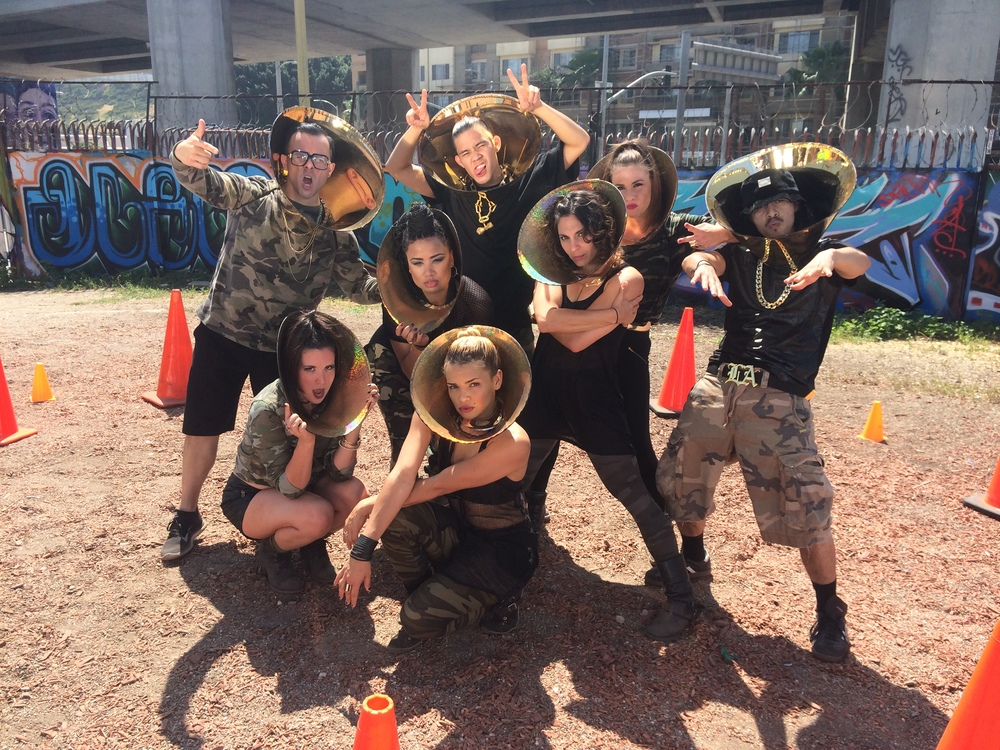 The dancers and I of #conezone - an awesome viral video coming for ya...!