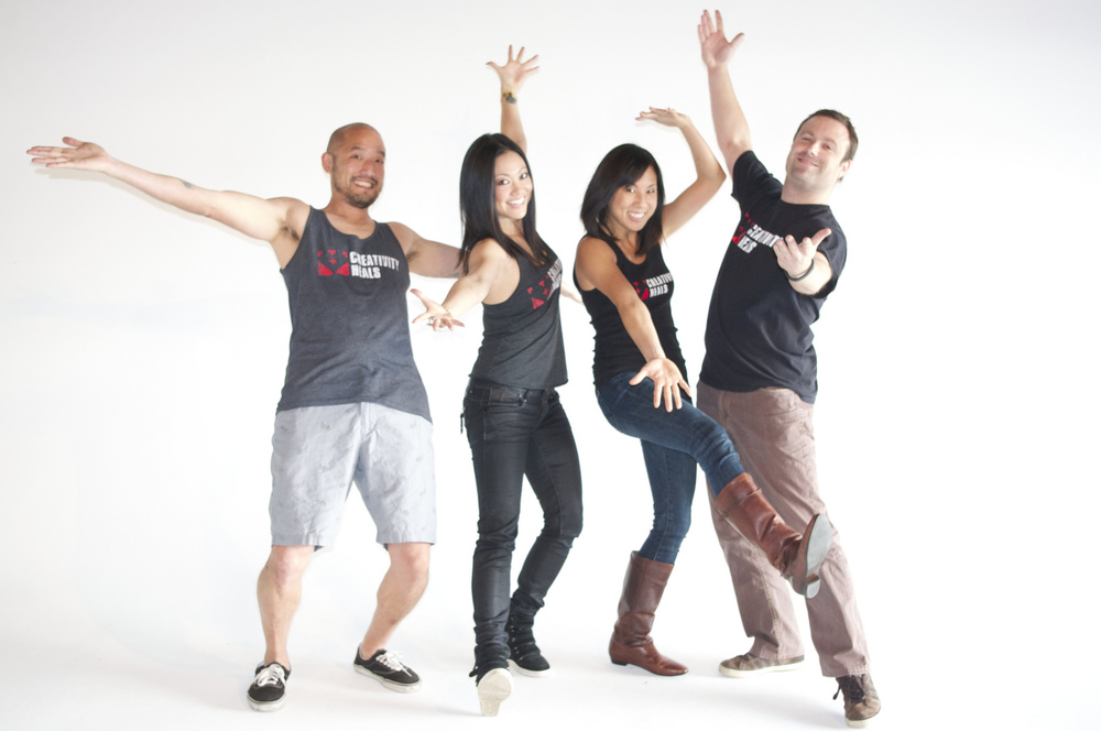Creativity Heals cofounders: Jonathan Wang, Jenny Kita, Charleen Meyer, Matt Kessinger