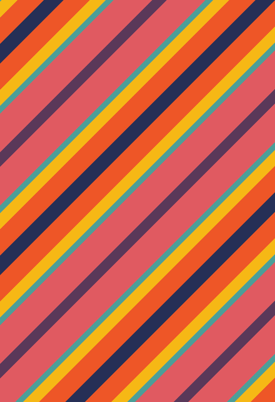"Diagonal Stripe. Illustrator image, 13"" x 19"""