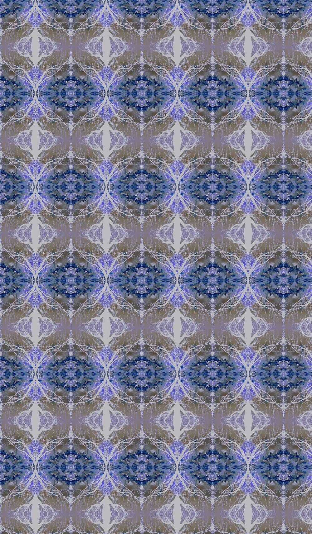 "the pattern in repeat on 2 yards of 42"" fabric"