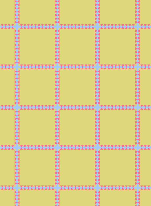 another coordinating geometric pattern