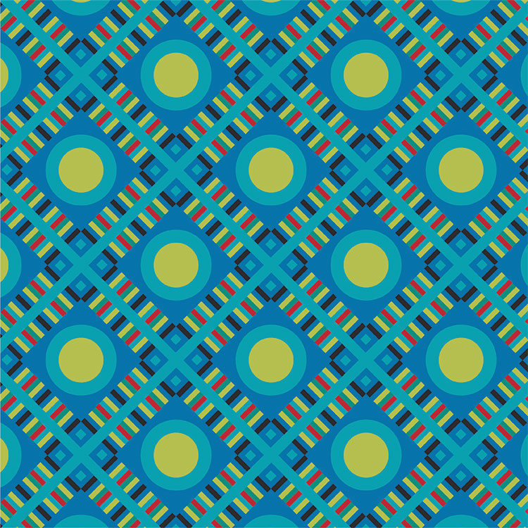 "Carlyn Clark's ""Pop Plaid"" print design, recolored for Spring/Summer 2015"
