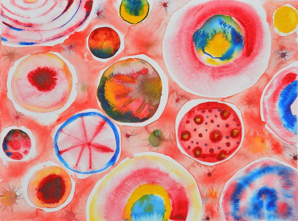 2014 Liberate Your Art Postcard with a watercolor by Carlyn Clark