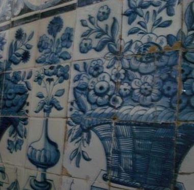 Azulejo tile mural from Alcochete, Portugal.