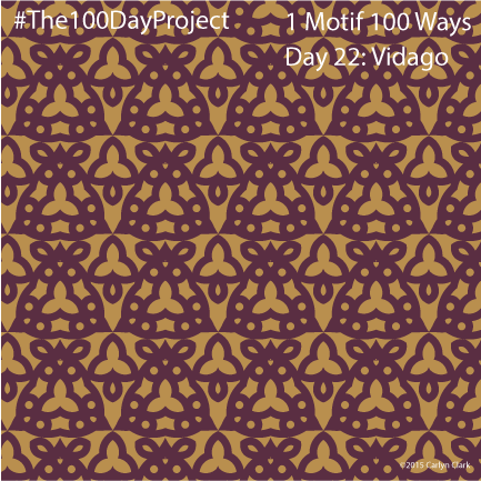 """Vidago"", by Carlyn Clark of ""The 1 Motif 100 Ways"" series for day 22 of ""The 100 Day Project"""