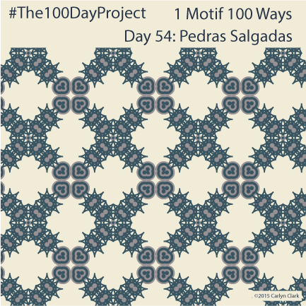 """Pedras Salgadas"", by Carlyn Clark of ""The 1 Motif 100 Ways"" series for day 54 of ""The 100 Day Project"""