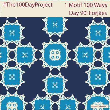 """Forjães"", by Carlyn Clark of ""The 1 Motif 100 Ways"" series for day 90 of ""The 100 Day Project"""