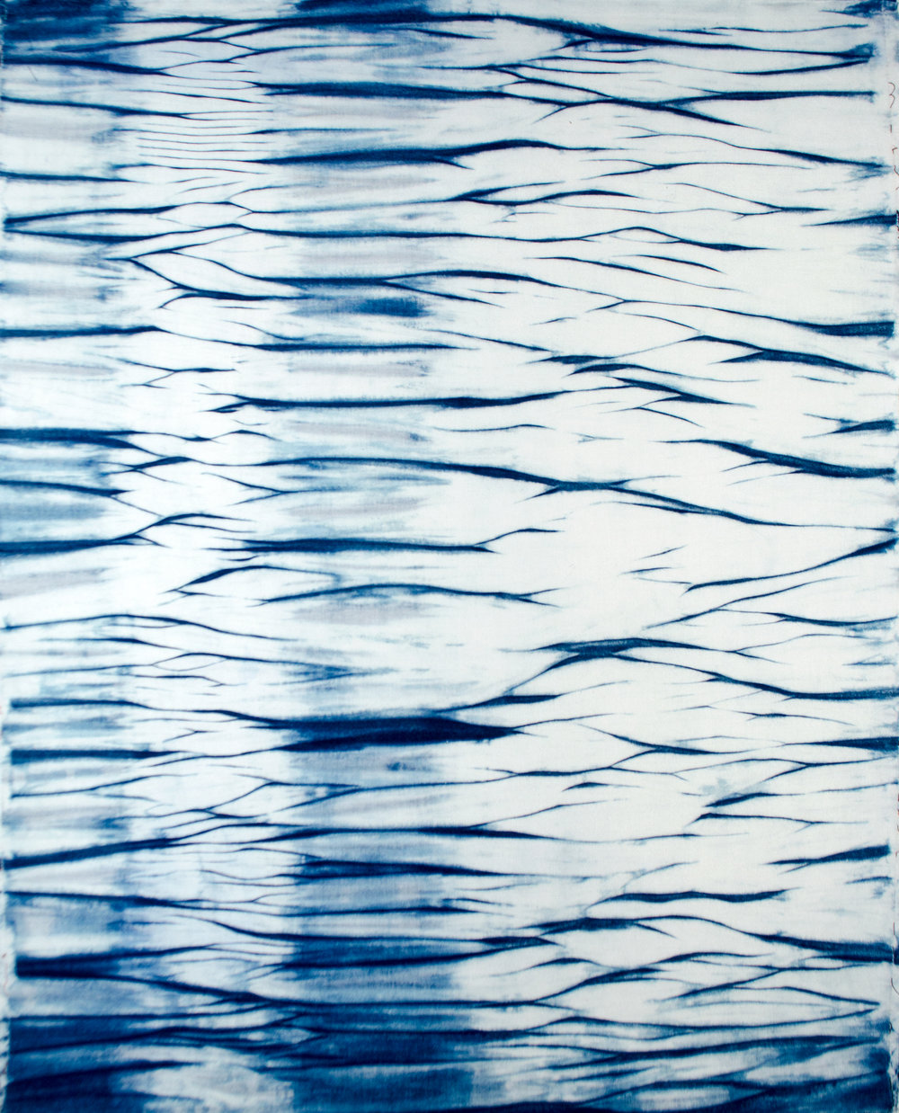 Kona Cotton Arashi Shibori Fat Quarter Dyed in the Indigo Vat by Carlyn Clark