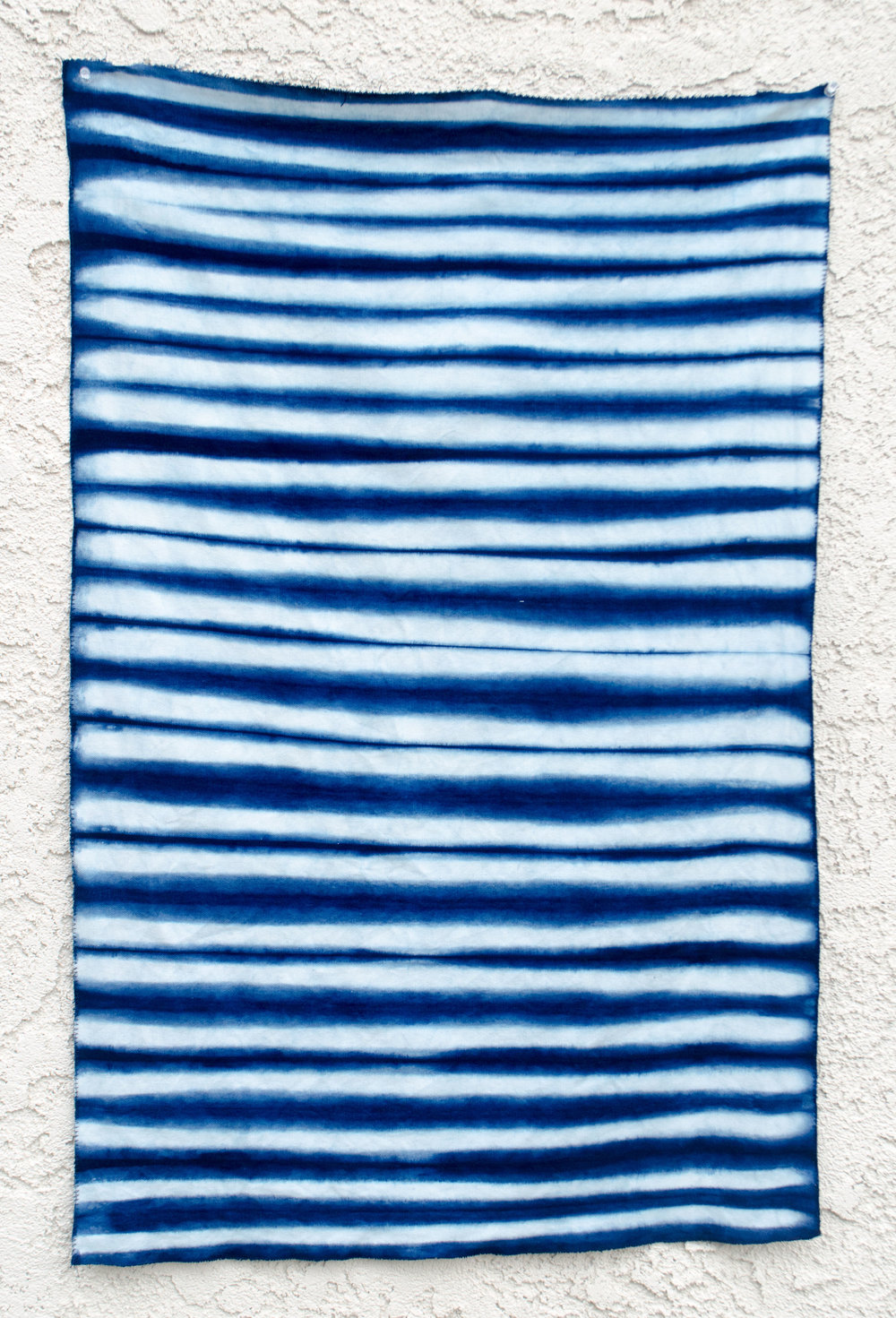 Shibori dyed stripe fat quarter for quilters by Carlyn Clark