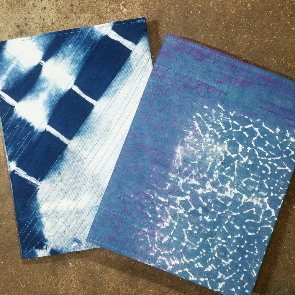 Shibori died book covers for bullet journal and sketchbook