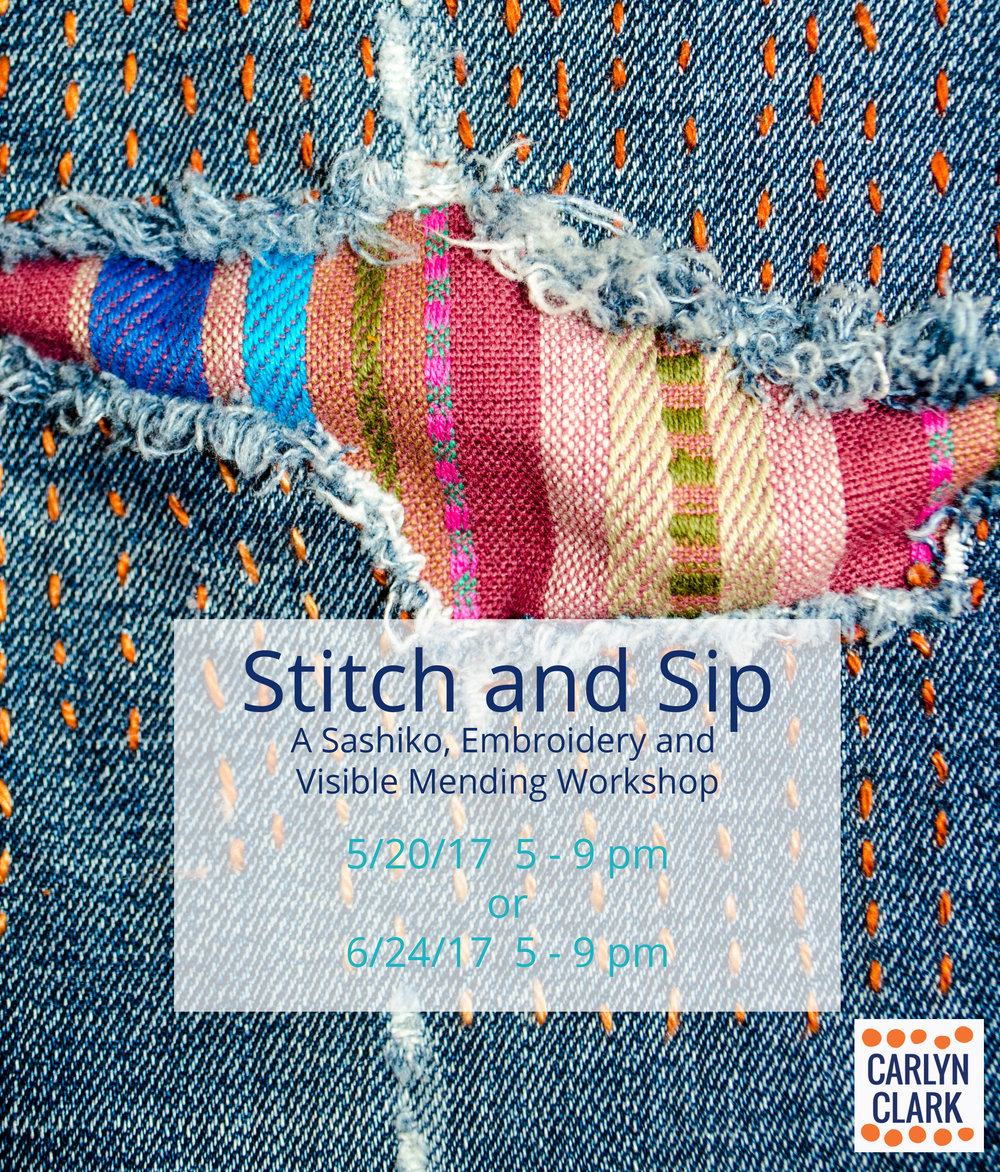 Sip kombucha, shrubs and fruit-ades as you learn to stitch and repair in the boro tradition
