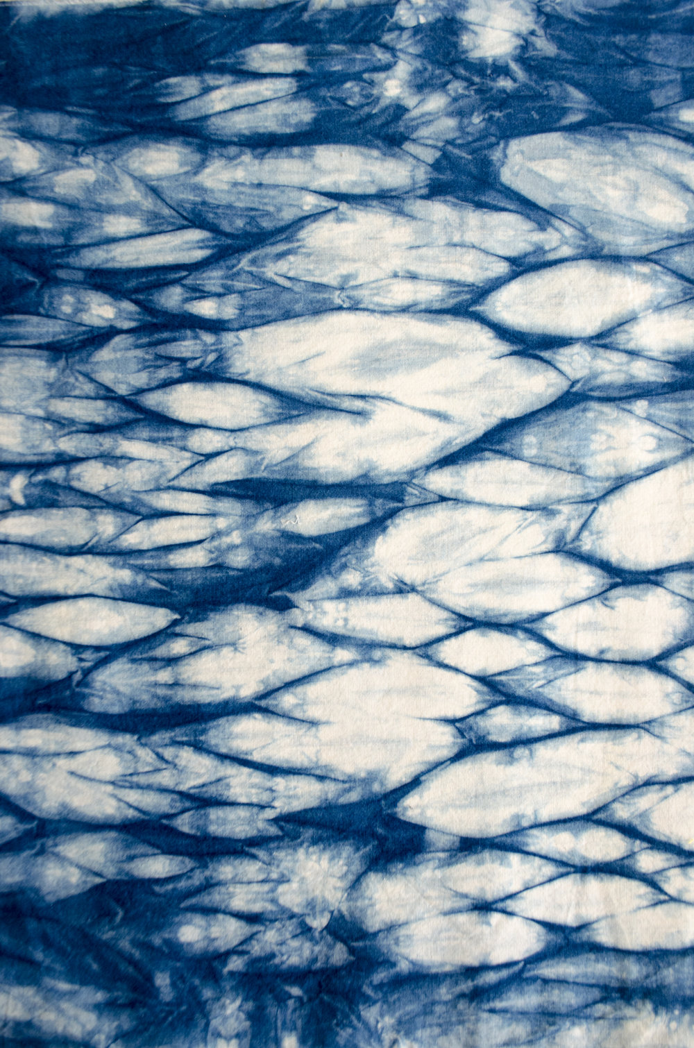 Arashi Shibori Dyed in the Indigo Vat