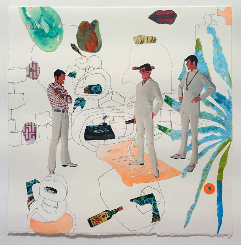 """""""Men in White"""" after Margaret finished layer 4."""