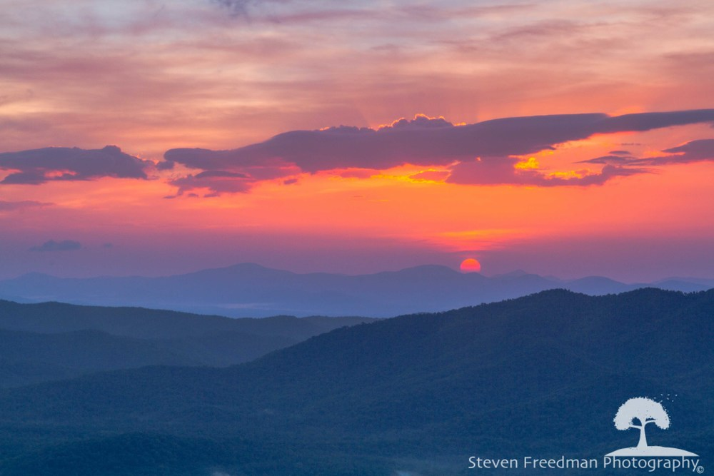 Sunrise from the Pounding MIll Overlook on the Blue Ridge Parkway