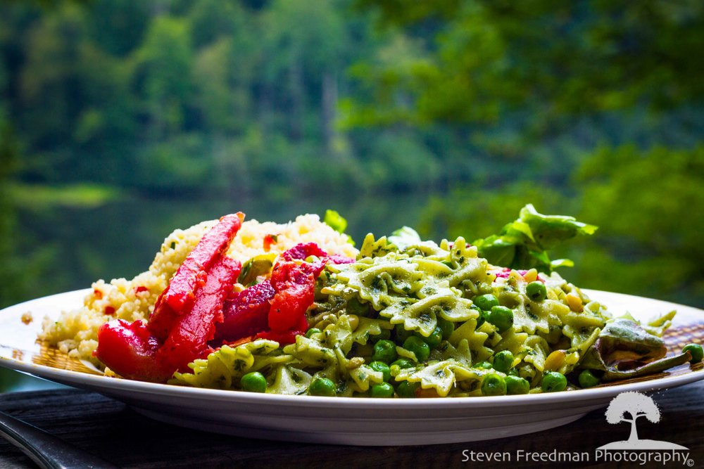 Chef Liam's bow tie pasta pesto salad