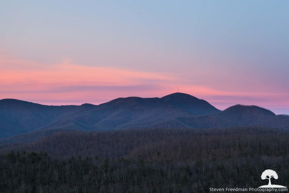 Mt. Pisgah, basking in the pink morninglight.