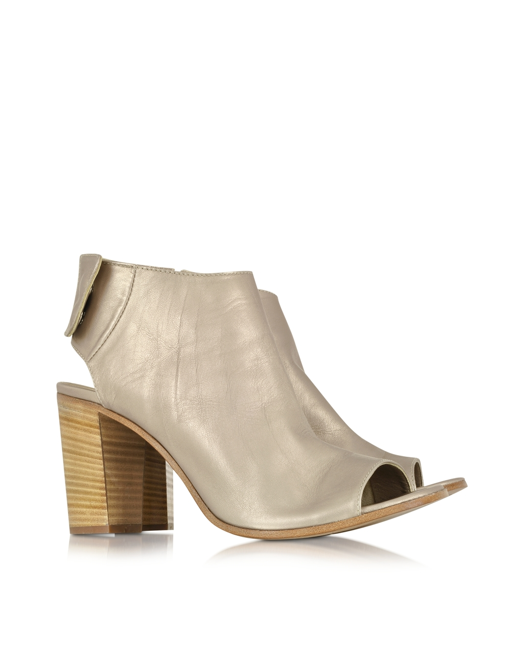 Metallic Leather Bootie | Lemare | A metallic version of my go-to shoe this year | $255