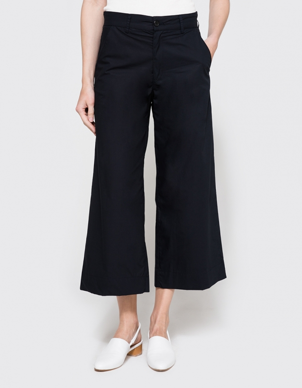 Wide Leg Truoser in Navy | Need | On Sale $125