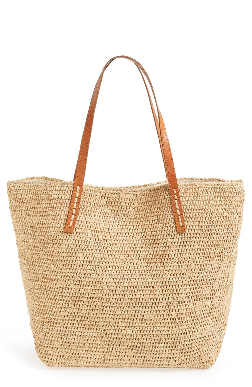 Portland Package Raffia Tote | Mar Y Sol | On Sale $81