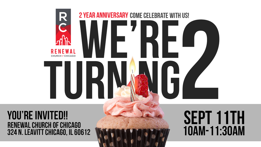 Come out and fellowship with us at our 2nd anniversary. Bring an appetite and a friend. See you Sunday.