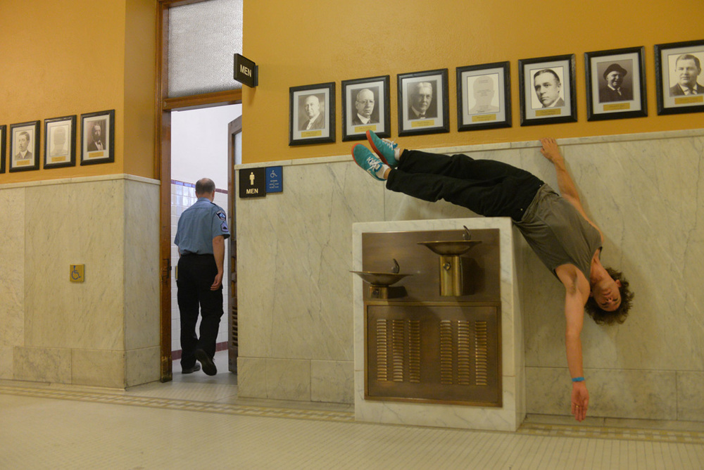 Otto Ramstad performing  closer (solo)  at Minneapolis City Hall, 2015. Credit Sean Smuda.