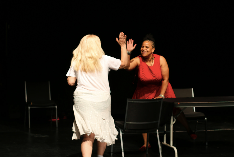 Actors in Homestead Instead: Reclaiming the Dream, a 2016 forum play. Credit Devyn Mañibo.