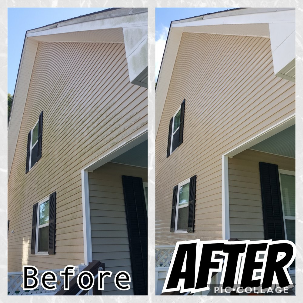 House Wash Before & Afer