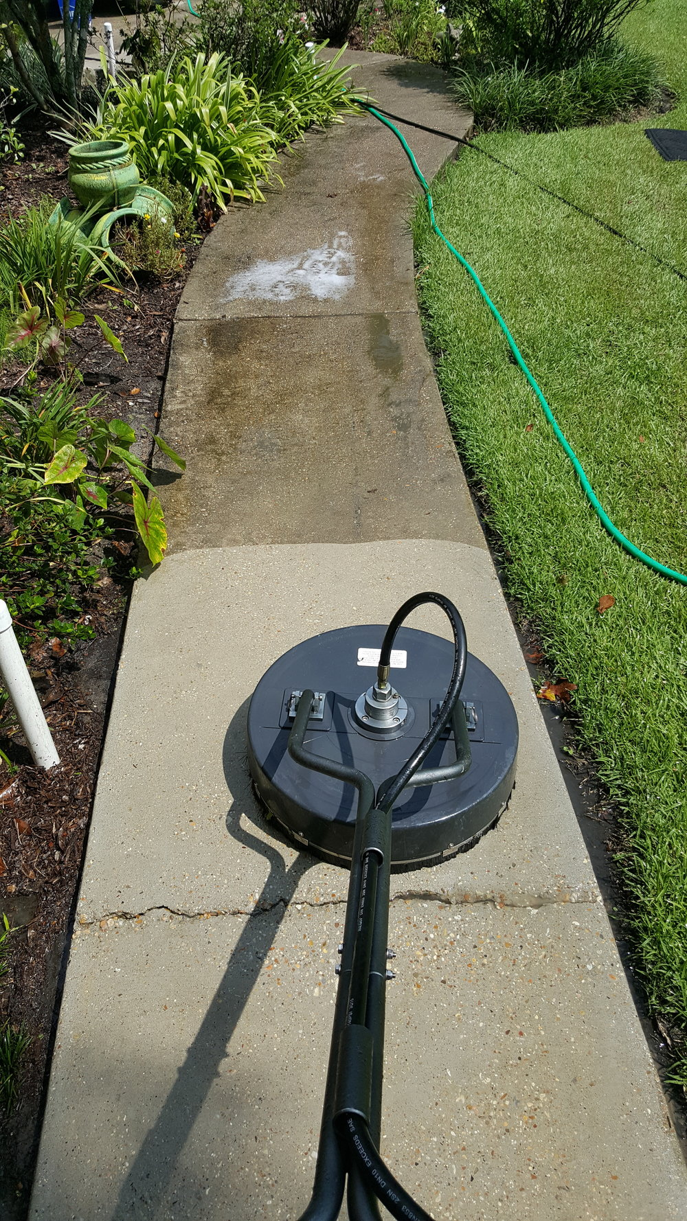 Surface Cleaning Sidewalk Before & After