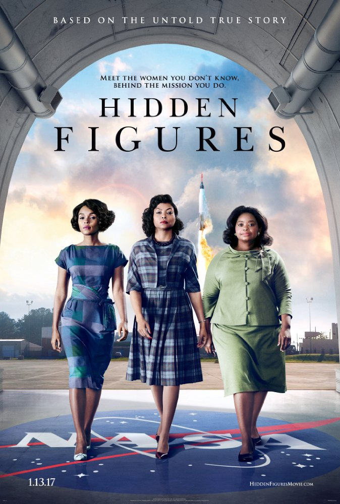 Hidden Figures - Hidden Figures, 2016. Directed by Theordore Melfi, Written by Alison Schroder, Theodore Melfi (adapted from the book by Margot Lee Shetterly).A feel-good predictable yawn. The story is pleasant and uplifting, but the film isn't anything spectacular, aside from exposing the details about the American space program that up until now, were largely omitted from history's retelling.Meh 😐