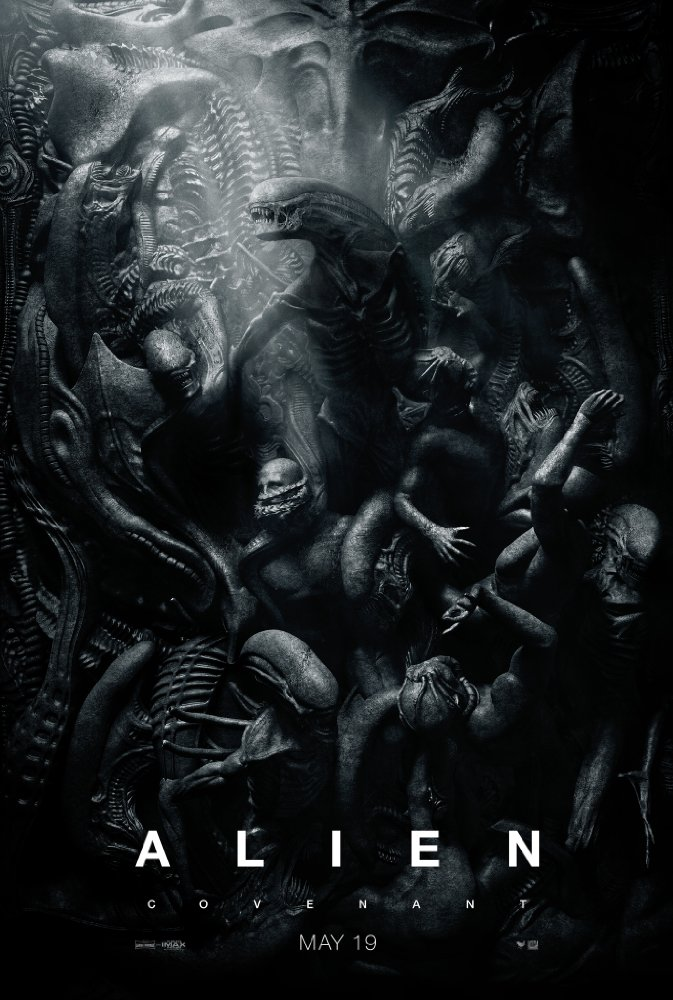 "Alien: Covenant - 2017. Directed by Ridley Scott. Story by Jack Paglen and Michael Green. Screenplay by John Logan, and Dante HarperScary? Check. Badass heroine? Check. Campy, predictable, moments that just don't make sense? Check. I can't figure out if the Alien ""sci-fi"" franchise has morphed into every other horror movie franchise (but with spaceships). Truth is, I left wholly entertained in all of its IMAX glory, and that's enough to keep me interested 'til the last film in this trilogy of the series. Thumbs Up."