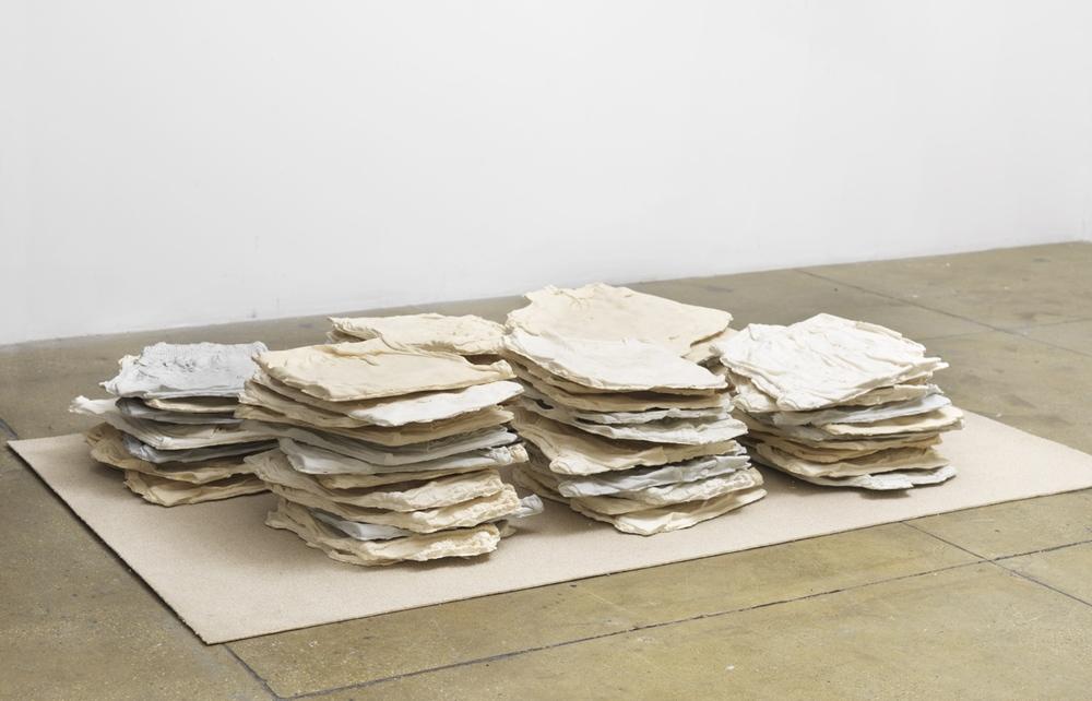 Elif Erkan,Half Dozen Friends, 2015, plaster, pigments, carpet,150 x 200 x 100 cm (59 1/8 x 78 3/4 x 39 3/8 in.)