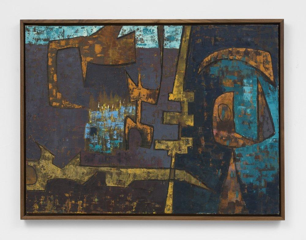 Luchita Hurtado, untitled, 1952, oil on canvas,28 x 36 inches (71.1 x 91.4 cm)