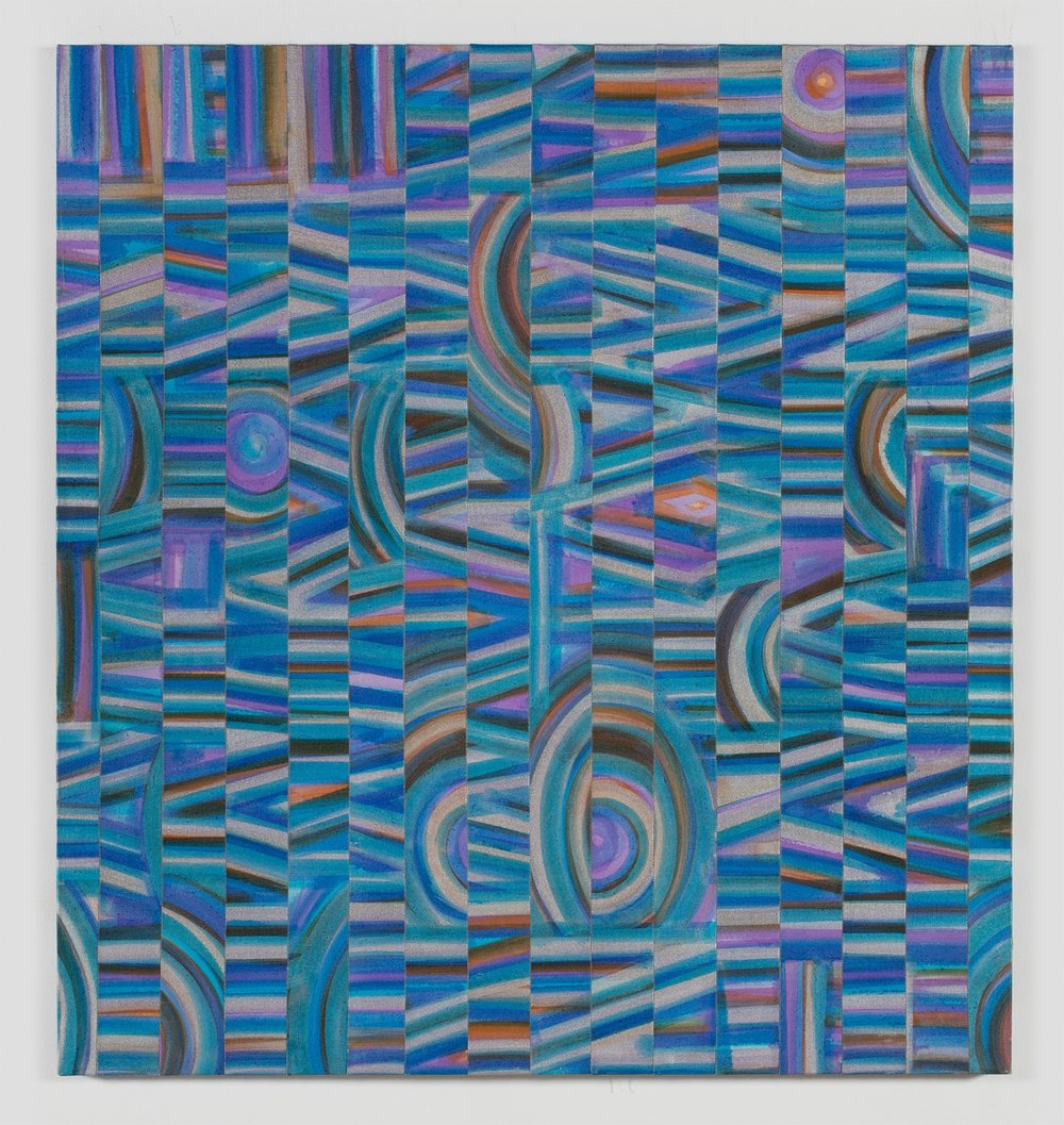 Luchita Hurtado, untitled, 1972, acrylic on canvas, thread, 44 x 41.5 inches (111.8 x 105.4 cm), #LH-2016.030