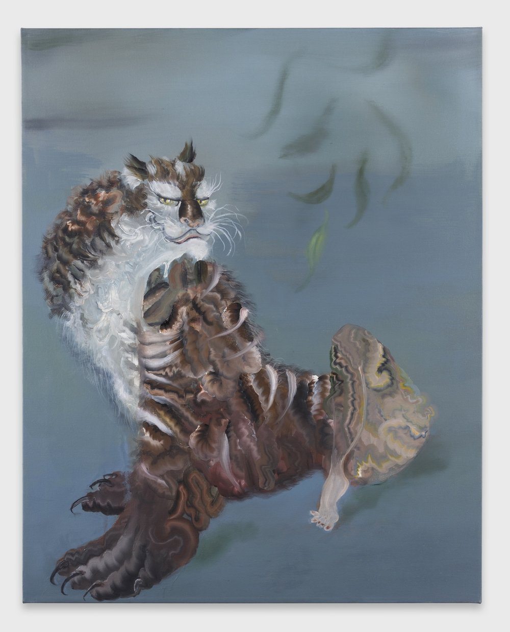 Autumn Ramsey,  Cat with Sexy Leg , 2016, oil on canvas, 30 x 24 inches (76.2 x 60.9 cm), #AR-2016.007