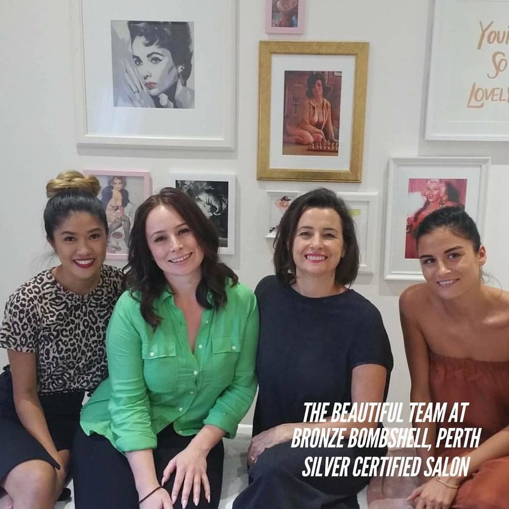 Trish Pham, Lydia Kypros, Elle Wilson, Sophie La Rocca.  Since joining Brow Artists International I've worked very hard to achieve our Silver Certification. We have been able to expand the salon from a small beauty room to renovating an additional room with three extra  beauty stations within a year.