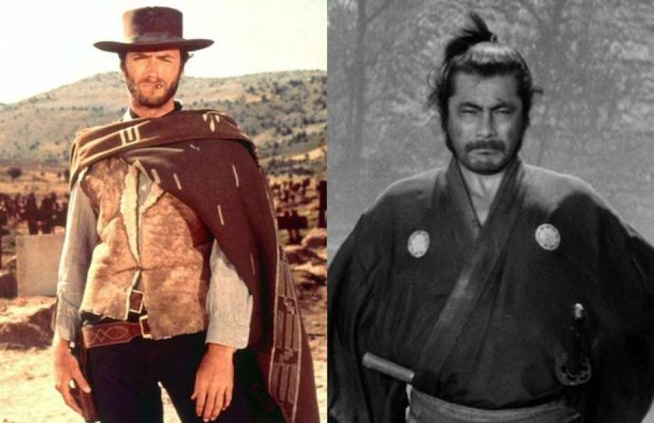 He is instead a self-serving anti-hero, - akin to the title character in the Kurosawa samurai masterpiece Yojimbo, which was, of course, remade in Western form as Fistful of Dollars.