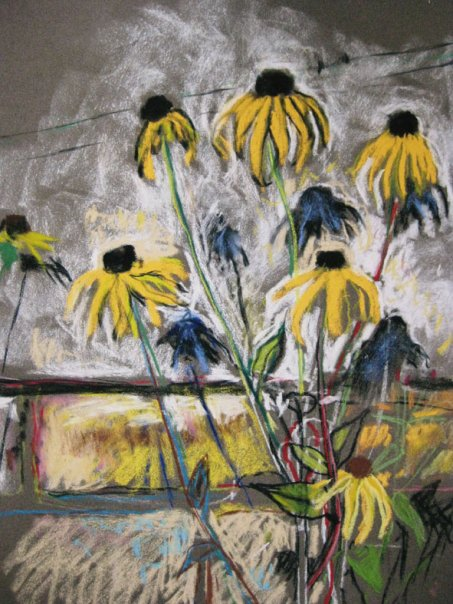 Rudbekia by the wall no 2.jpg