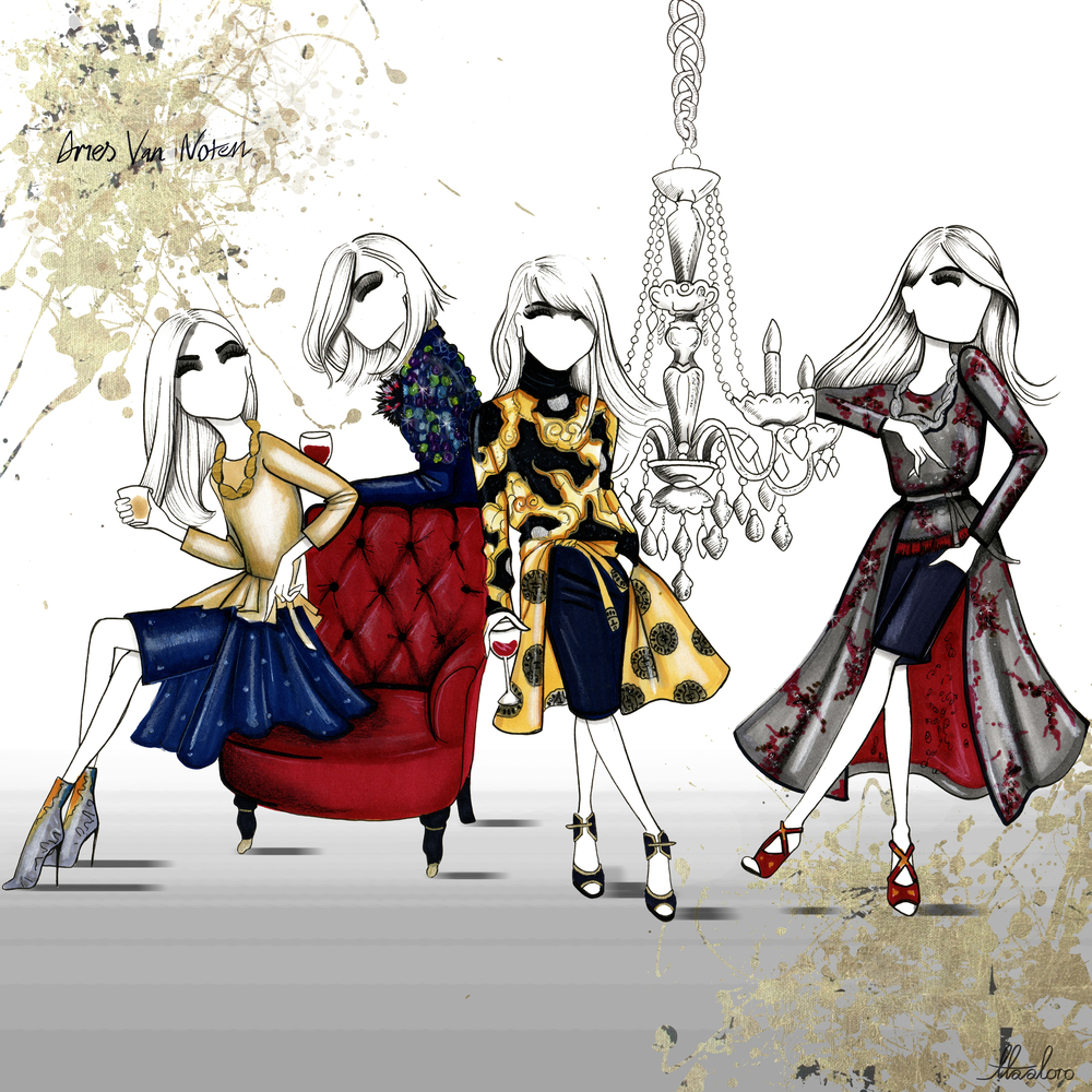 Aaron Favaloro has cemented his place at the top of Fashion illustration, he has continued his rise by illustrating Oprah, Kim Kardashian, Beyonce, Taylor Swift and Gigi Hadid to name a few. He has worked with Rolls Royce, Sisley, Moet, Swarovski and Estee Lauder.  The future is exciting and we cannot wait to share with you what Aaron is up to next.