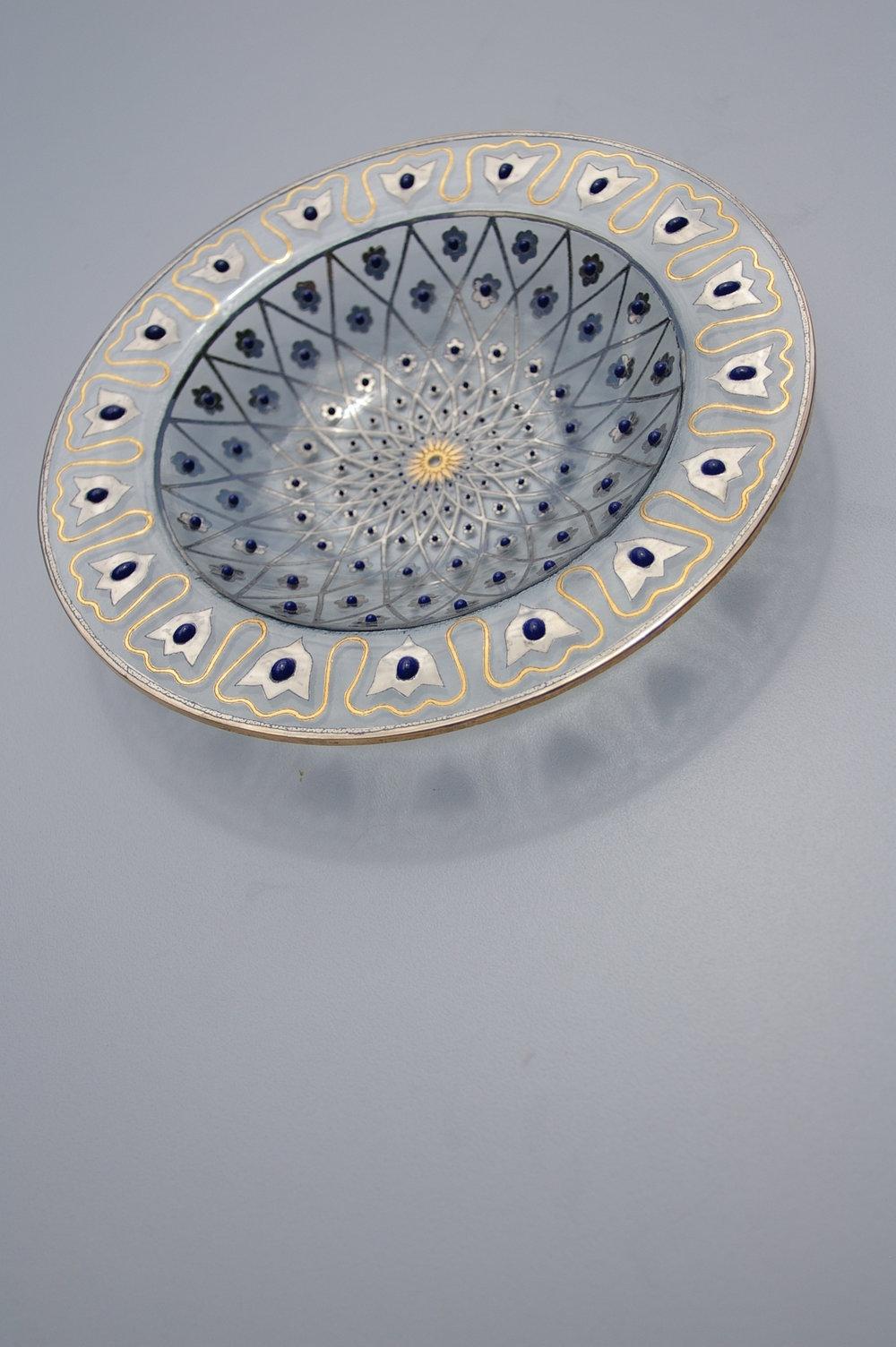 Glass bowl by Peter Crisp